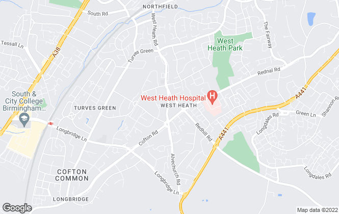 Map for Rice Chamberlains Estate Agents Limited, West Heath