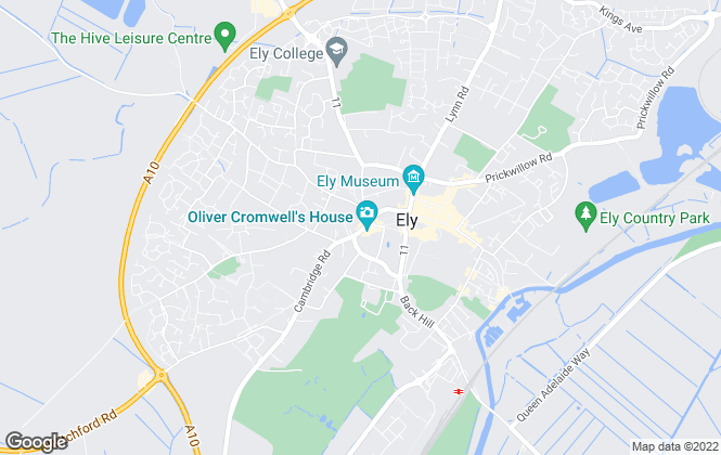 Map for Keeleys, Ely