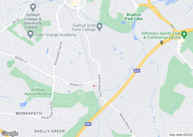 Map for Widney Court,116, Widney Manor Road, Solihull, West Midlands, B91