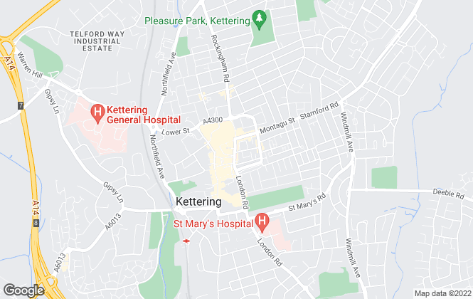Map for Simpson & Partners, Kettering