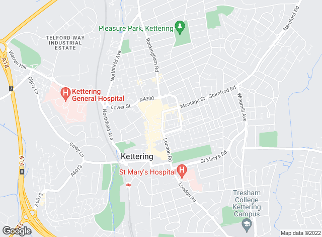 Map for Lucas Estate Agents, Kettering