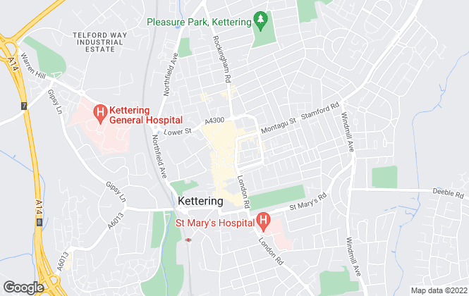 Map for YOUR MOVE - Hobin Roberts, Kettering