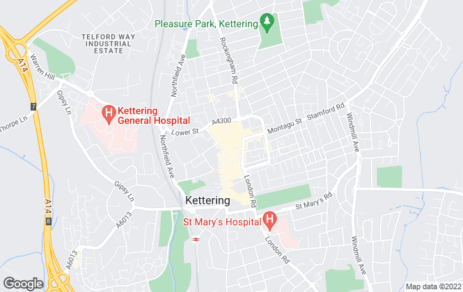 Map for William H. Brown, Kettering