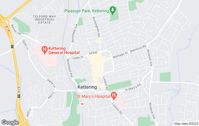 Map for Pattison Lane, Kettering
