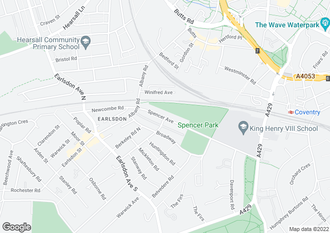 Map for 8 Spencer Avenue, Earlsdon, Coventry, West Midlands