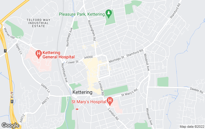 Map for Let It!, Kettering