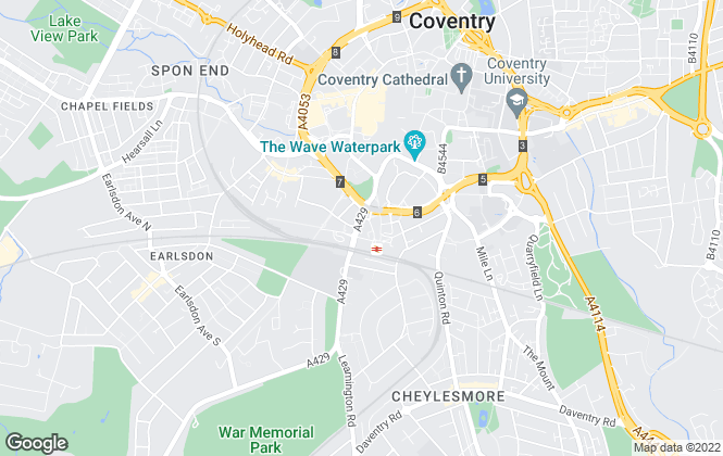 Map for Reeves & Partners Limited, Coventry