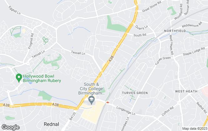 Map for Martin & Co, Longbridge