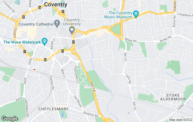 Map for Nicholas Humphreys, Coventry