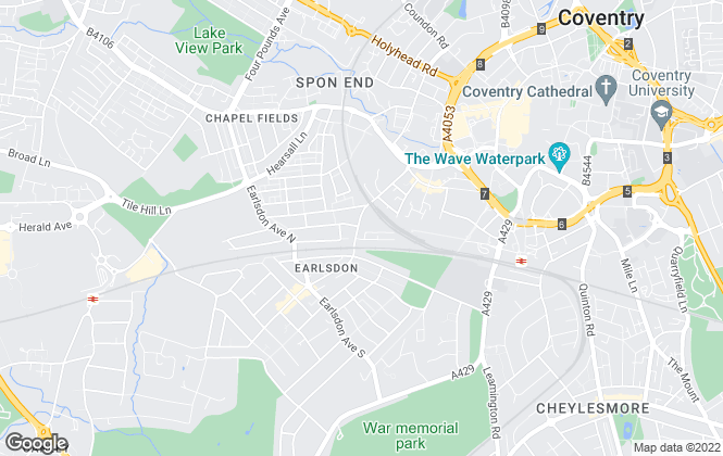 Map for Concentric Sales & Lettings, Coventry