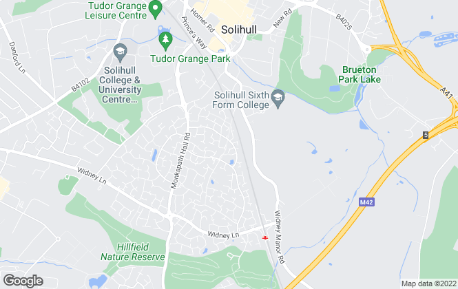 Map for Blue Town Properties Limited, Solihull