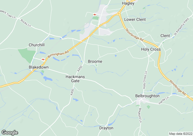 Map for Broome House, Broome, Stourbridge, West Midlands, DY9