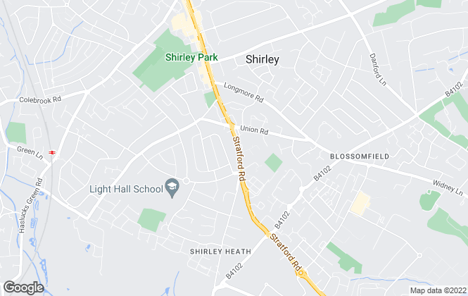 Map for Shakespeares Estate Agents, Solihull – Shirley