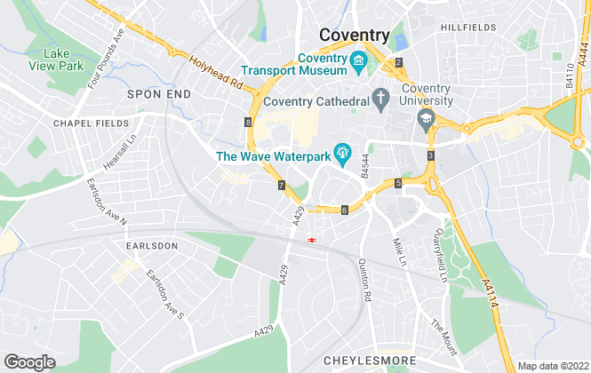 Map for Loveitts, Coventry - Auctions
