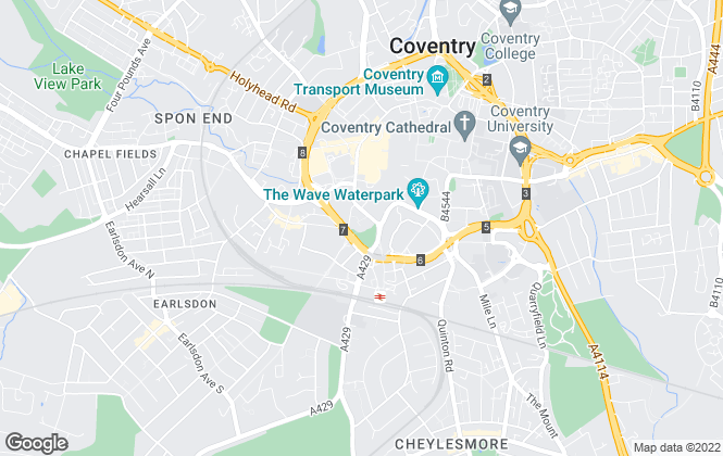 Map for Elizabeth Davenport Estate Agents, Coventry