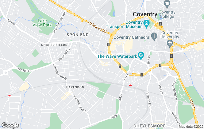 Map for City Lets Ltd, Coventry
