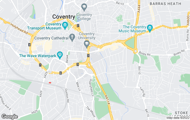 Map for Futurelets, Coventry
