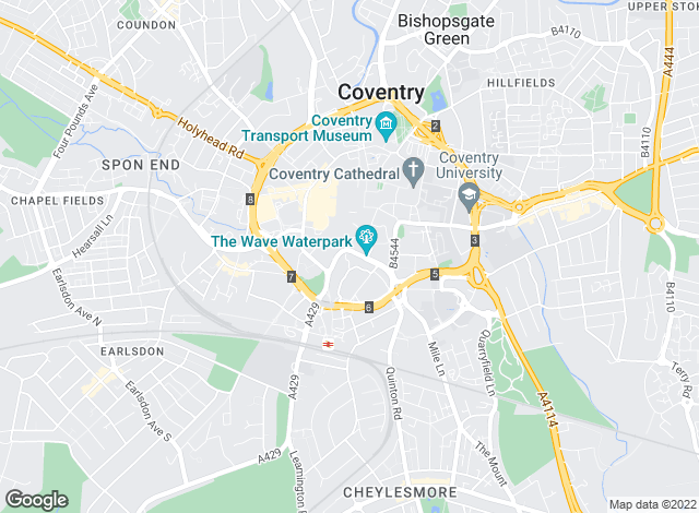 Map for Dixons, Coventry
