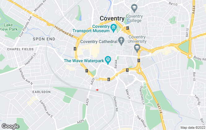 Map for Bairstow Eves Lettings, Coventry