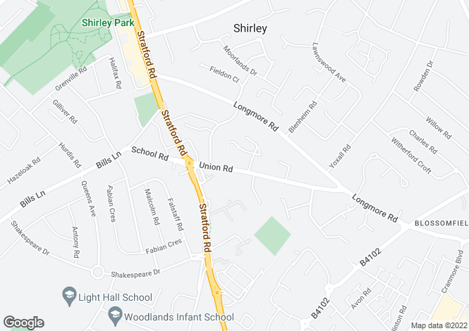 Map for 32 Pegasus Court,29, Union Road, Shirley, Solihull, B90