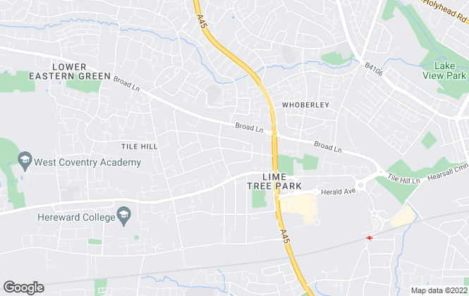 Map for Pure Properties, Coventry