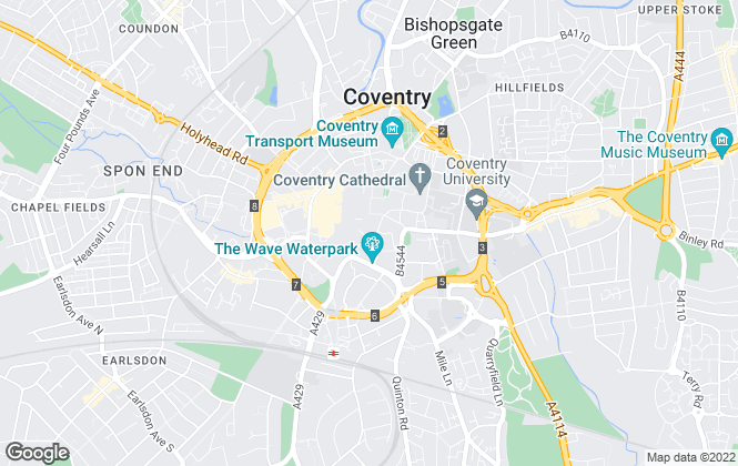 Map for Brian Holt, Coventry