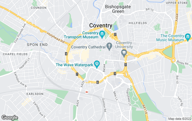 Map for White Tiger Estates, Coventry