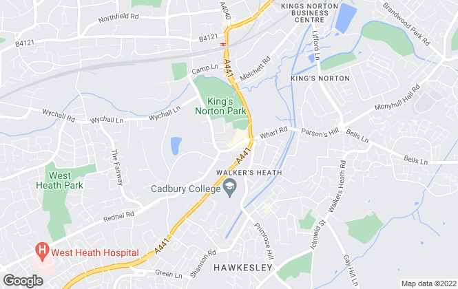 Map for Dixons, Kings Norton