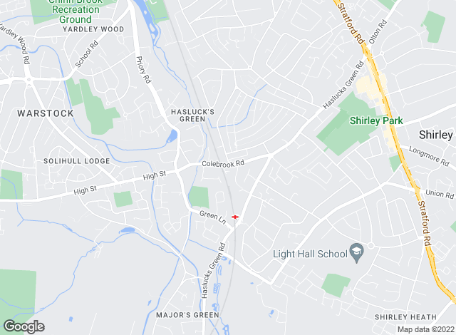 Map for Homes Online UK, Shirley