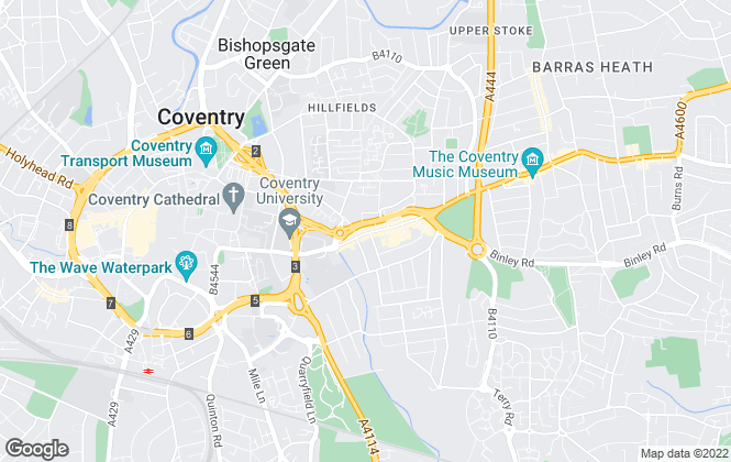 Map for Armstrong Property Management Services , Coventry
