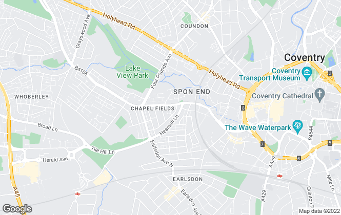Map for Complete Residential Lettings, Coventry