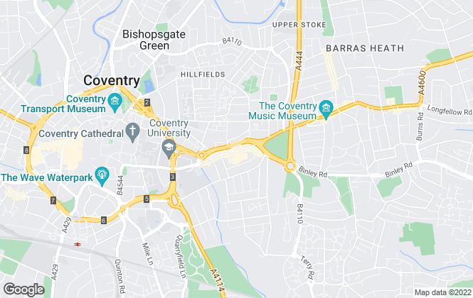 Map for Bluewood Estates and Letting, Coventry - Lettings