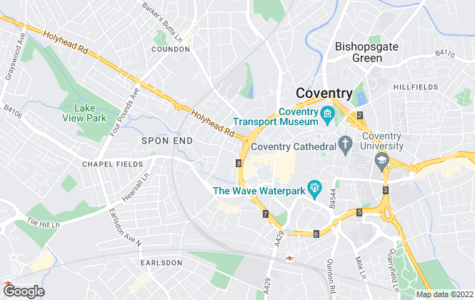 Map for Tailor Made Sales and Lettings, Coventry