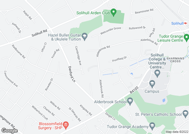 Map for 90, Alderbrook Road, Solihull, West Midlands, B91