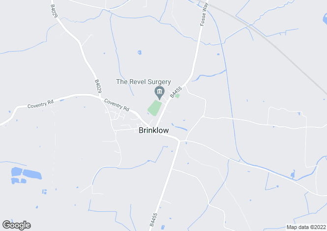 Map for Broad Street, Brinklow, Rugby