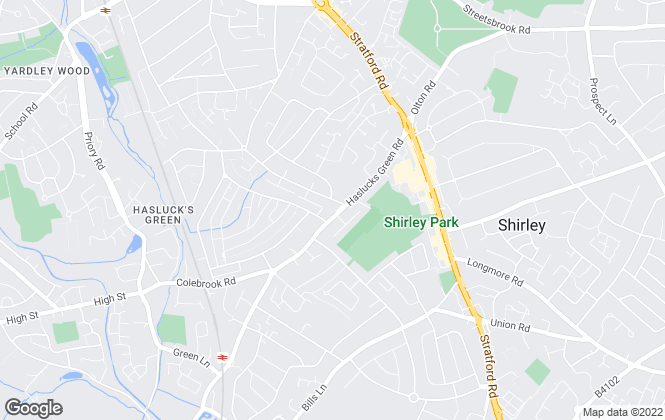 Map for Partridge Homes, Shirley