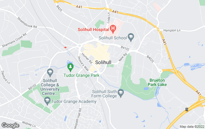Map for To Let Solihull, Solihull