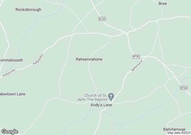 Map for Raheennahone, Bree, Enniscorthy, Co Wexford