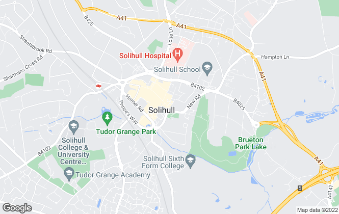 Map for Andrew Grant, Solihull
