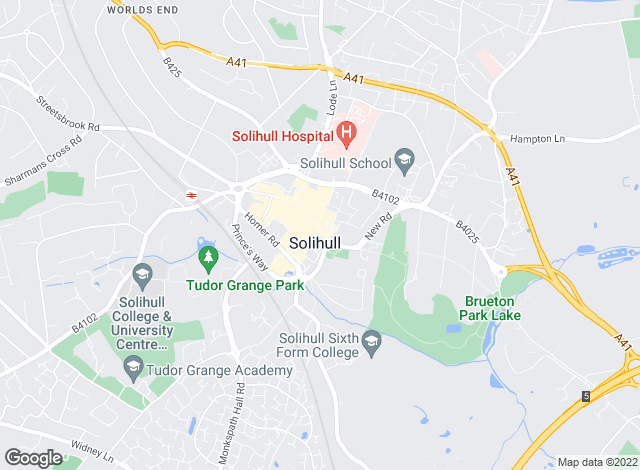 Map for Bartleys Estate Agents, Solihull