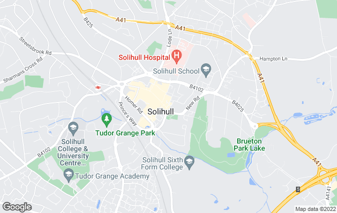 Map for John Shepherd, Solihull