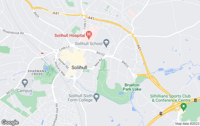 Map for Simon Burt The Estate Agent, Solihull