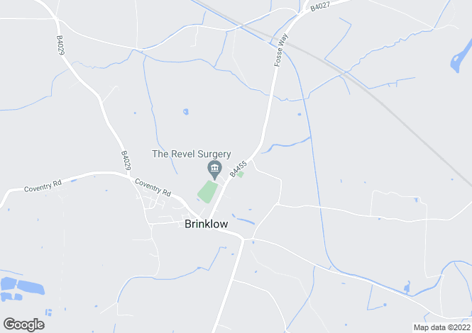 Map for The Crescent, Brinklow, Rugby