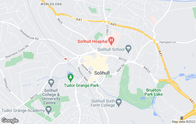 Map for Burchell Edwards, Solihull