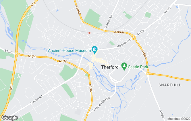 Map for William H. Brown, Thetford