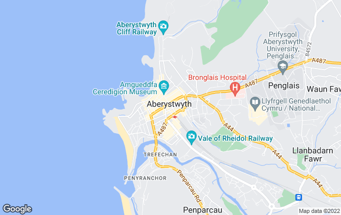 Map for Morris Marshall & Poole, Aberystwyth