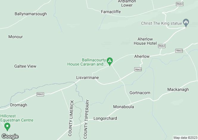 Map for Ballinacourty, Lisvernane,, Glen Of Aherlow, Co Tipperary, E34CD62