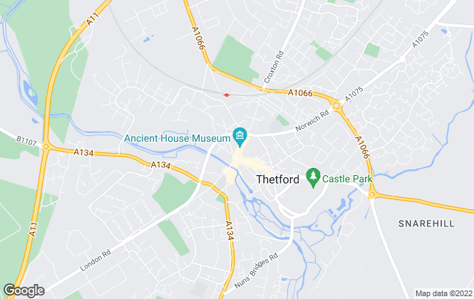 Map for Hudson Property Services, Thetford