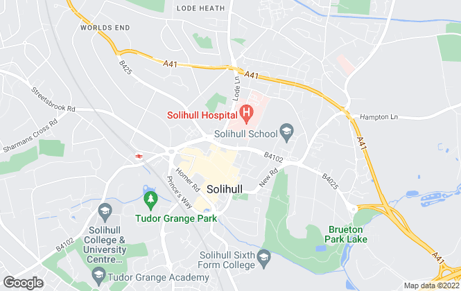 Map for Edwardian Homes, Solihull