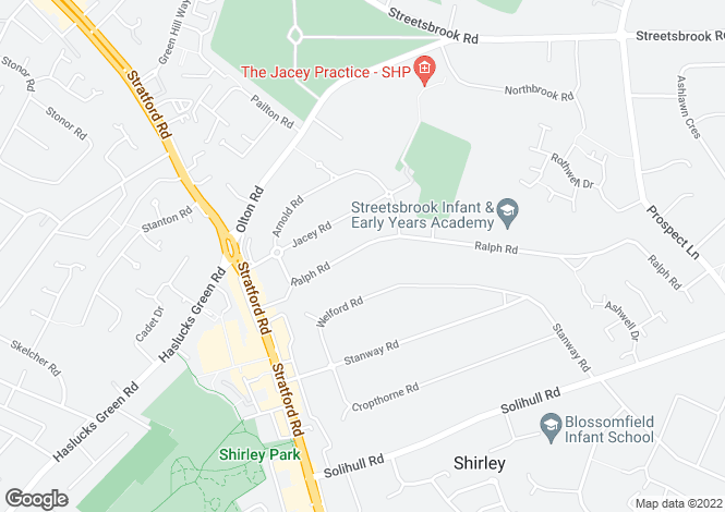 Map for Ralph Road, Shirley, Solihull, B90 3JU